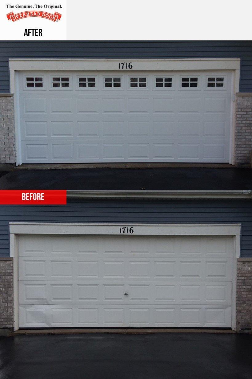 Overhead Door Model 391 Garage Door Installation In Shorewood Il Overhead Door Company Of Joliet