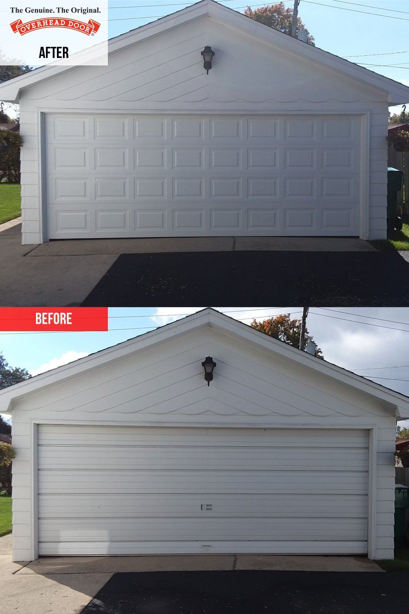 Overhead Door 180 Series Garage Door Installation In Joliet Il Overhead Door Company Of Joliet