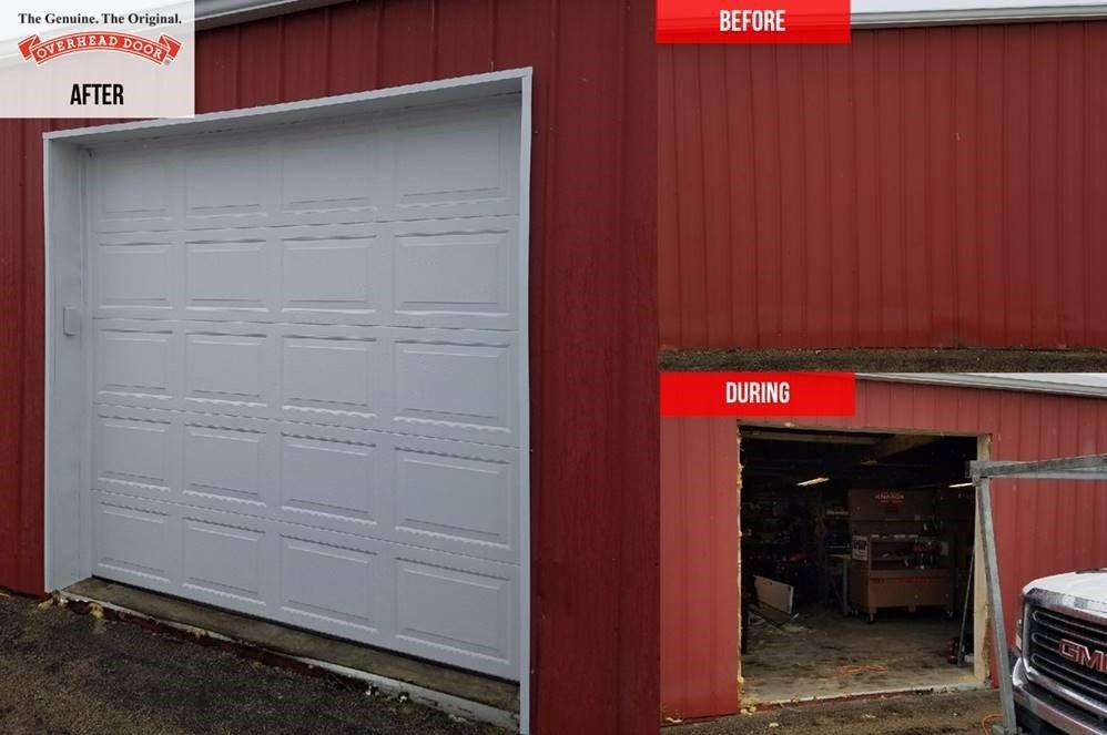 Pole Building Garage Door Installation In Minooka Il Overhead Door Company Of Joliet